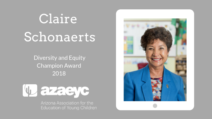 Diversity and Equity Champion Award Claire Schonaerts