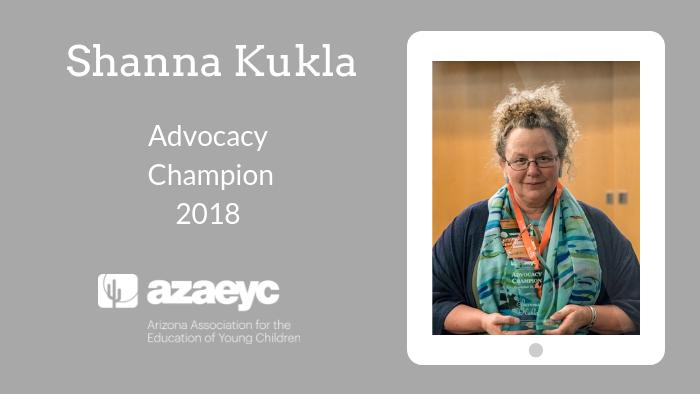 Shanna KuklAdvocacy Champion Award