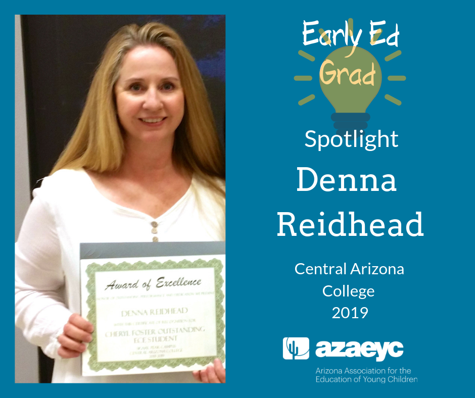 Denna Reidhead Cheryl Foster Award Recipient 2019 Central Arizona College