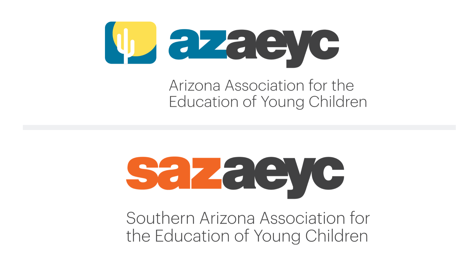 AzAEYC Logo and SAZAEYC logo